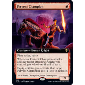 EXTENDED ART Throne Of Eldraine Variants Magic MTG MINT CARD FERVENT CHAMPION