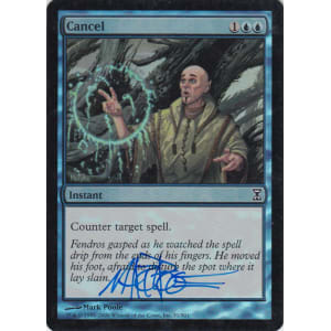 Cancel FOIL Signed by Mark Poole