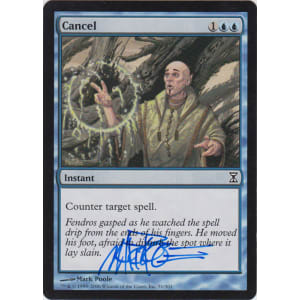 Cancel Signed by Mark Poole