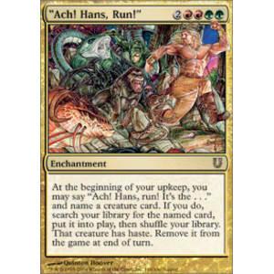 MTG Ach Run Hans Unhinged LP Magic: The Gathering -