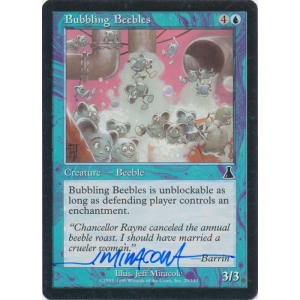Bubbling Beebles Signed by Jeff Miracola (Urza's Destiny)