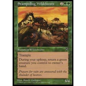 Stampeding Wildebeests