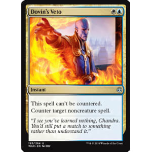 Magic the Gathering 4 x Dovin/'s Veto War of the Spark