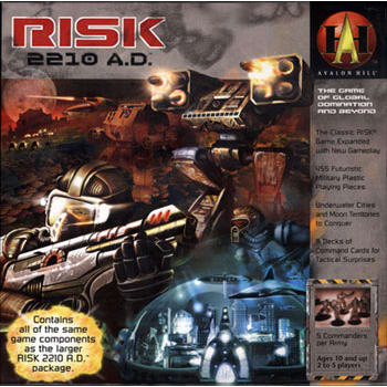 Risk 2210 A.D. Board Game