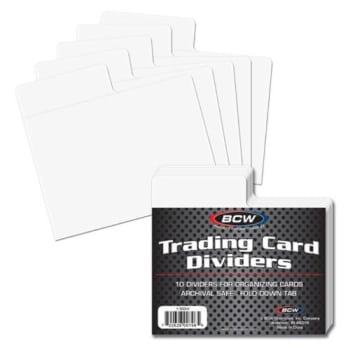 Trading Card Dividers Horizontal