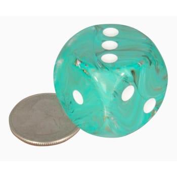 30MM D6: Marble Oxi-Copper w/White