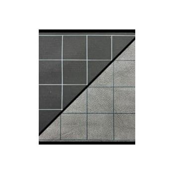 "Battlemat Reversible 1"" Black-Grey Squares"
