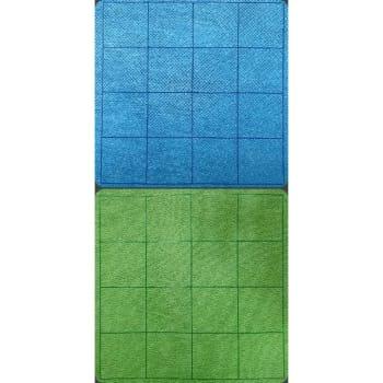 "Megamat Reversible 1"" Blue-Green Squares"