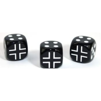 Axis and Allies D6: German - Opaque Black w/White