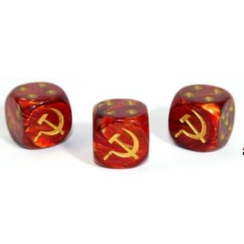 Axis and Allies D6: Russian - Scarab Scarlet w/Gold