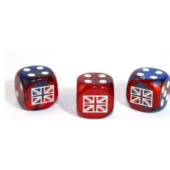 Axis and Allies D6: United Kingdom - Gemini Blue-Red w/White