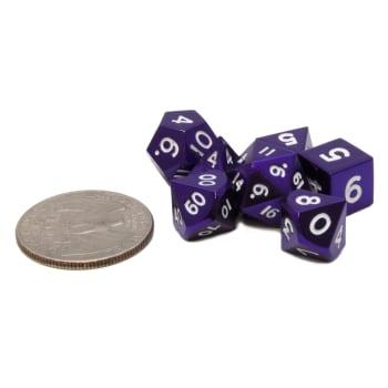 Poly 7 Dice Set: Mini Metal - Purple