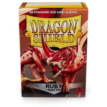 Dragon Shield Sleeves: Matte Ruby (100)