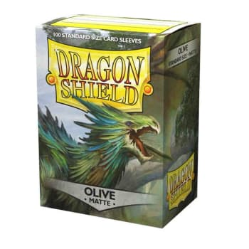 Dragon Shield Sleeves: Matte - Olive (100)