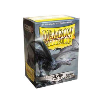 Dragon Shield Sleeves: Matte Non-Glare Silver (100)