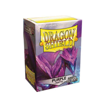 Dragon Shield Sleeves: Matte Non-Glare Purple (100)