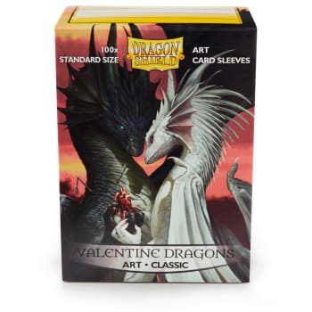Dragon Shield Sleeves: Classic - Valentines Dragon (100)