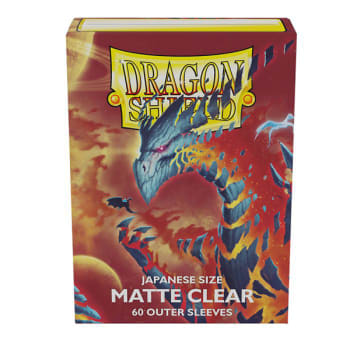 Dragon Shield Sleeves: Japanese Matte Clear Outer Sleeves (60)