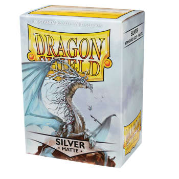 Dragon Shield Sleeves: Matte Silver (100)
