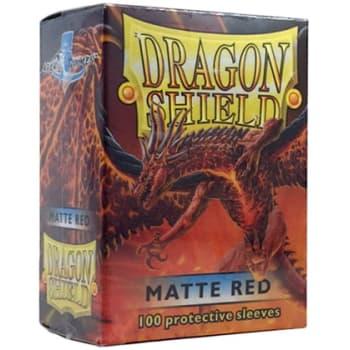 Dragon Shield Sleeves: Matte Red (100)