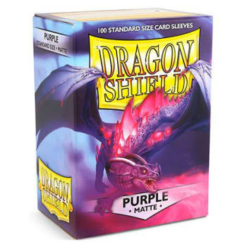 Dragon Shield Sleeves: Matte Purple (100)