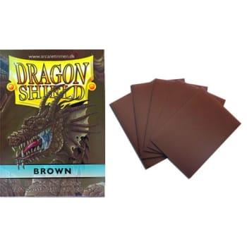 Dragon Shield Sleeves: Brown (50) - Mini Size
