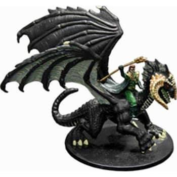Sorcerer on Black Dragon (Paizo)