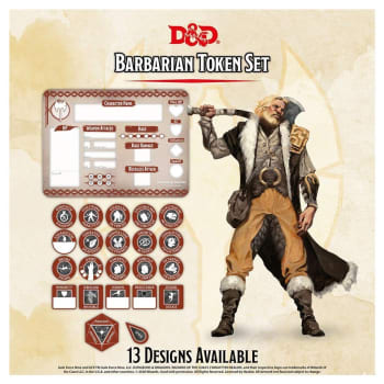 Dungeons & Dragons: Barbarian Token Set (Fifth Edition)
