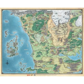Dungeons & Dragons: Sword Coast Adventurer's Guide - Faerun Map