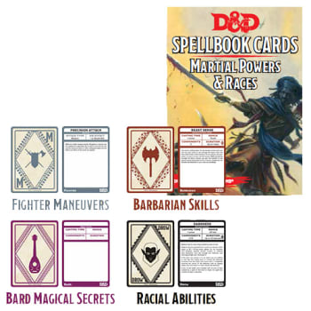 photograph regarding Printable 5e Spell Cards referred to as Dungeons Dragons: Martial Powers Races Spellbook Playing cards (5th Model)