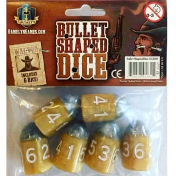 Tiny Epic Western Bullet Dice (6)
