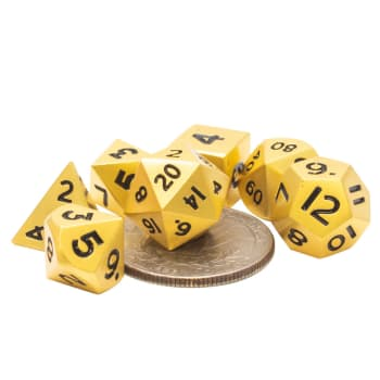 Poly 7 Dice Set: Mini Metal - Gold