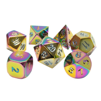 Poly 7 Dice Set: Metal - Rainbow