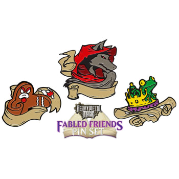 Heavy Metal Magic Fabled Friends Pin Set - Complete Set