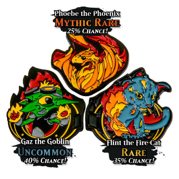 Heavy Metal Magic Pyro Pals Pin Set - Blind Bag