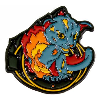 Heavy Metal Magic Pyro Pals Pin Set - Flint the Fire Cat