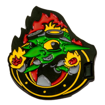Heavy Metal Magic Pyro Pals Pin Set - Gaz the Goblin