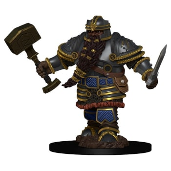 D&D Fantasy Miniatures: Icons of the Realms: Premium Figure - Dwarf Male  Fighter