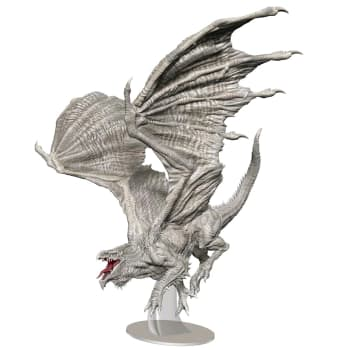 D&D Fantasy Miniatures: Icons of the Realms: Premium Figure - Adult White Dragon