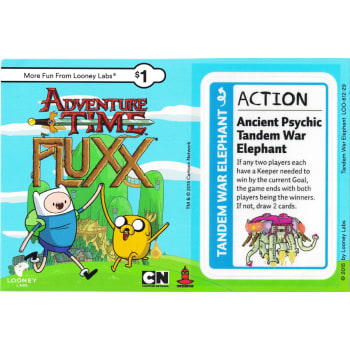 Adventure Time Fluxx: Tandem War Elephant Promo Postcard