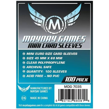 Mini Euro Card Sleeves Pack (100)