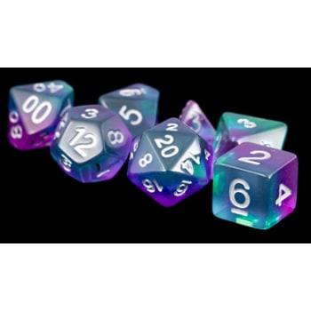 Poly 7 Dice Set: Blue Aurora Resin
