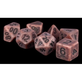 Poly 7 Dice Set: Ancient Copper Resin