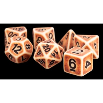 Poly 7 Dice Set: Ancient Brown Resin