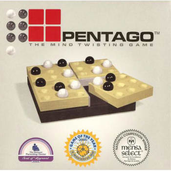 Pentago Board Game- Natural Birch
