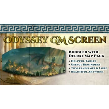 Odyssey of the Dragonlords: GM Screen and Map