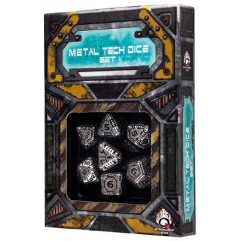 Poly 7 Dice Set: Metal Tech