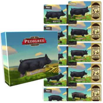 Pedigree Deck - Berkshire Pigs