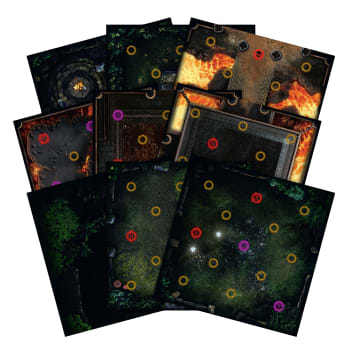 Dark Souls: The Board Game - Darkroot Basin and Iron Keep Tile Set