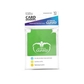 Ultimate Guard - Standard Size Card Dividers Green